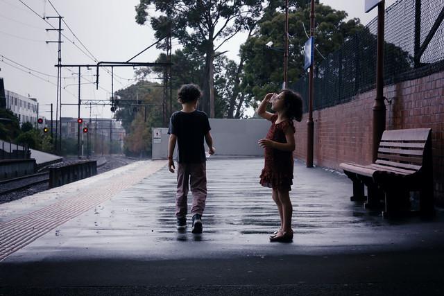rain on the platform
