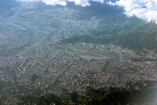 Taipei (Songshan Airport TSA/RCSS) from 35000 feet