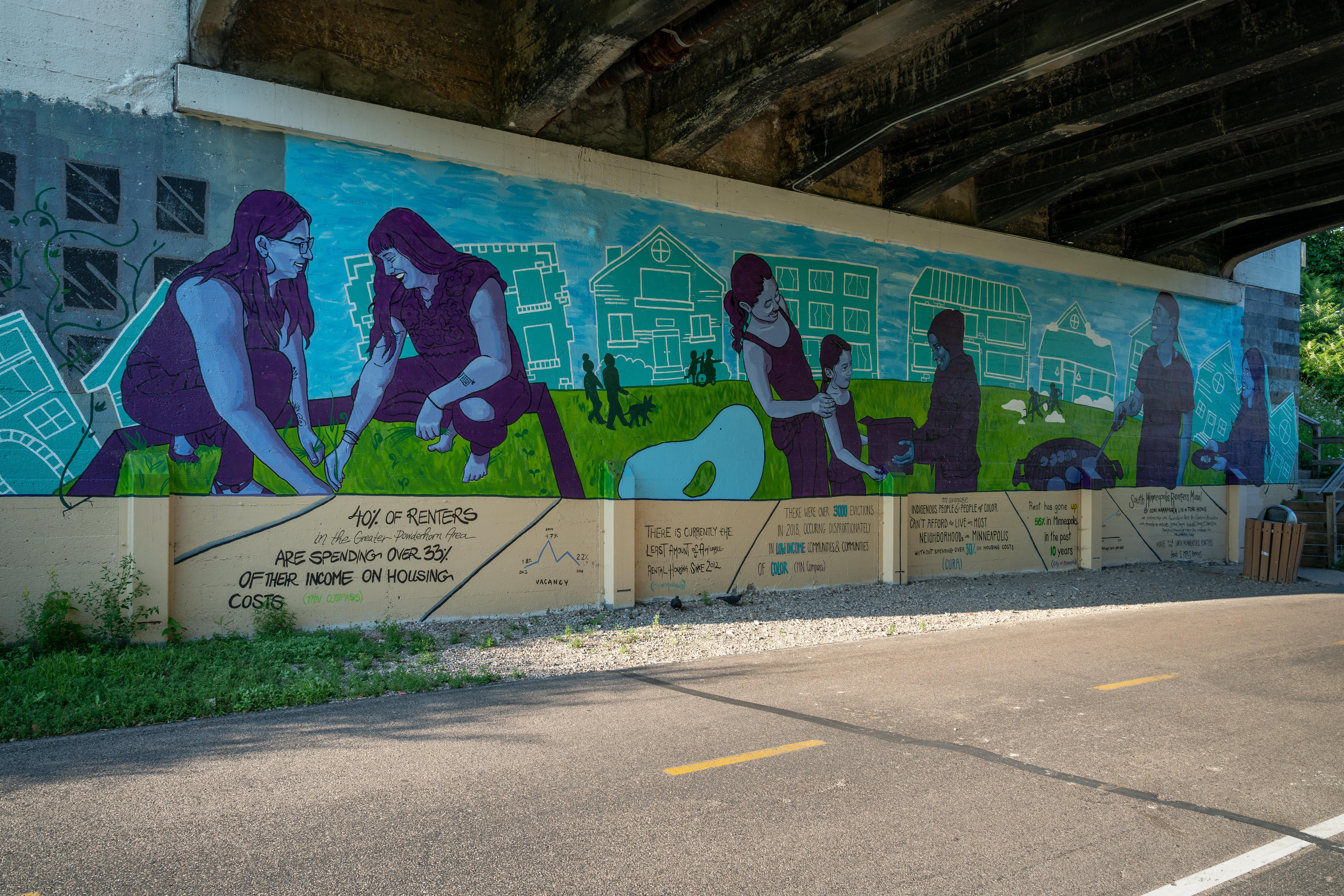 Photo of renters mural