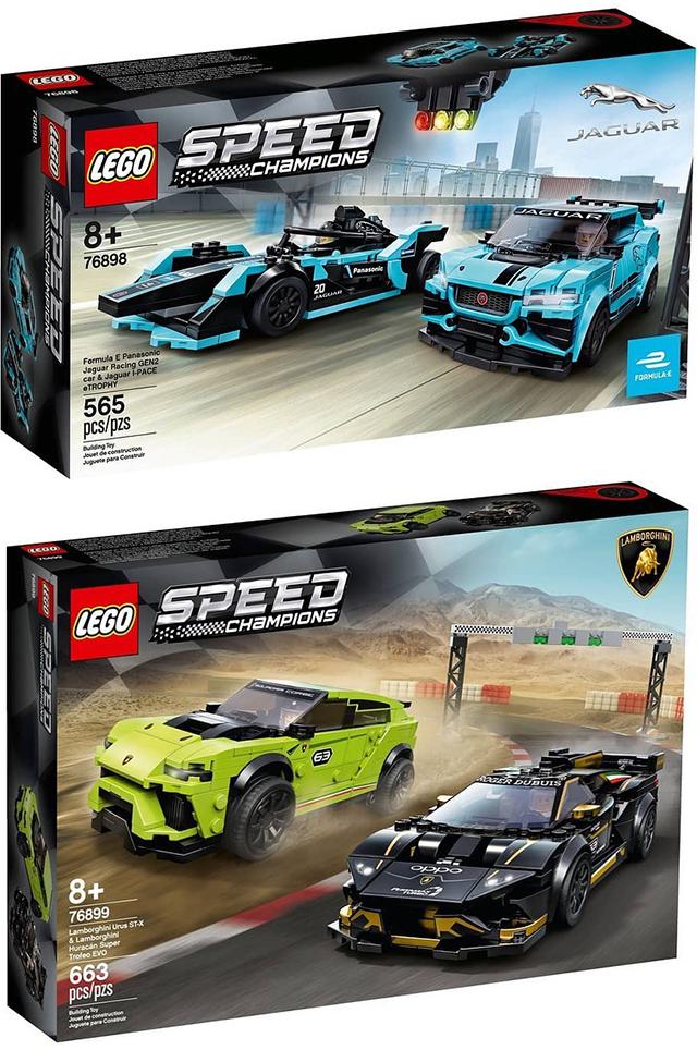 LEGO 76898、76899 Speed Champions 系列【捷豹、藍寶堅尼四款賽車樂高】Jaguar、Lamborghini Racing Car 正式發表!