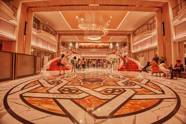 The lobby of Royal Plaza Hotel