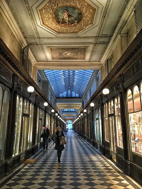 Paris France - Galerie Véro Dodat - Inside Old Arcade Shopping Mall - 1826