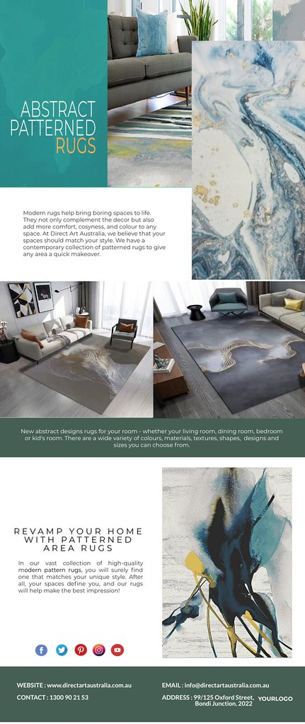 Embellish your floors with modern rugs in Australia!
