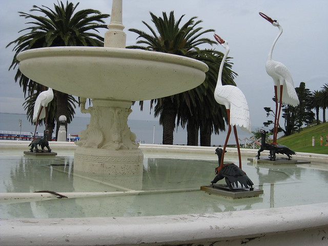 The Stork and Tortoise Dragon Art Deco Fountain - Eastern Beach, Geelong
