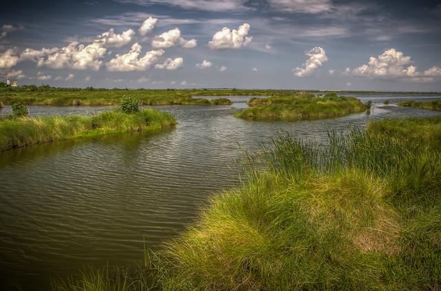 Waterways east of New Orleans