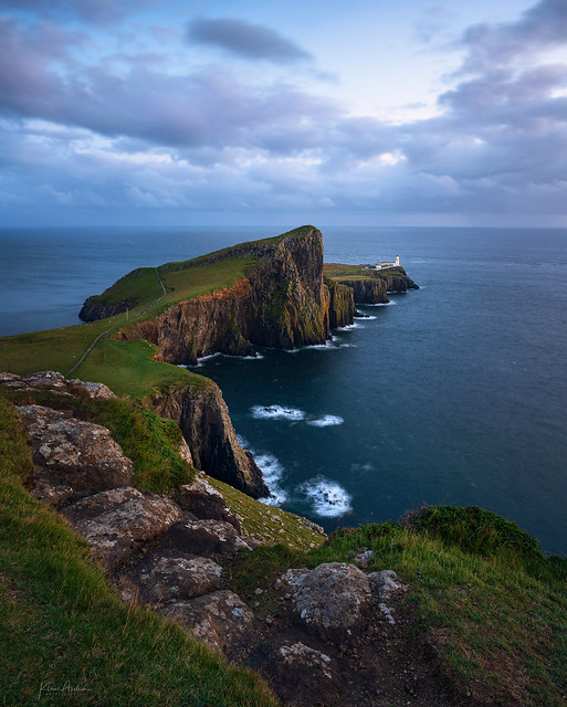 «Blue hour by Neist point lighthouse»