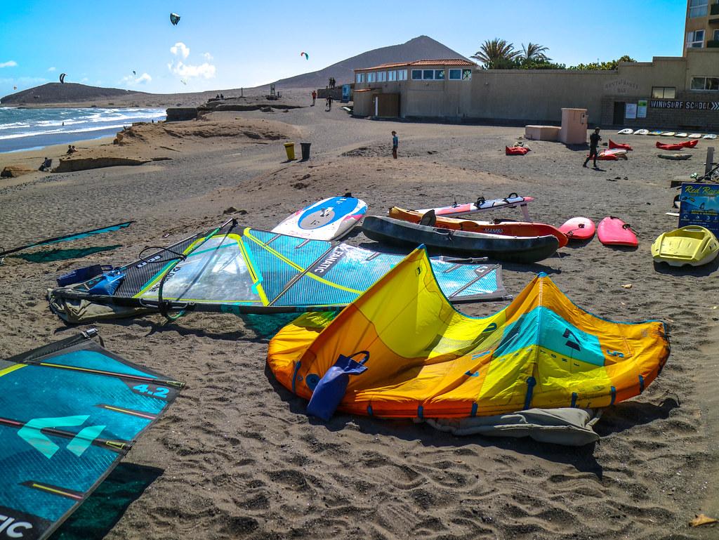 Tablas de Windsurf en El Medano