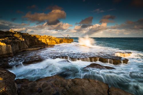 portlandbill plateau rocks waves wavecrash sea dorset england uk canon 80d sigma 1020mm leefilters