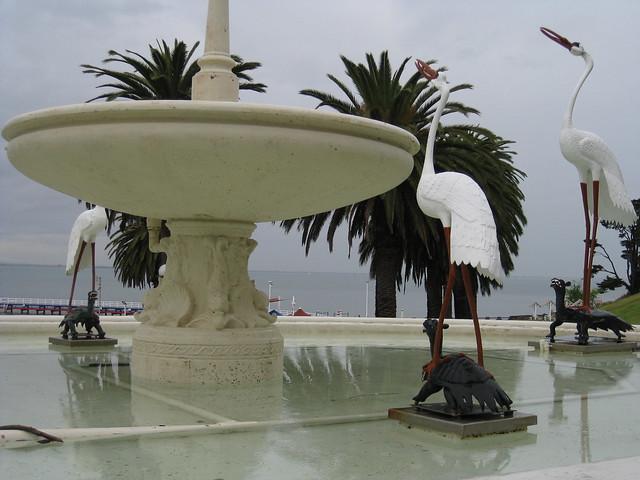 The Stork and Tortoise Dragon Art Deco Fountain - Eastern Beach, Geelong