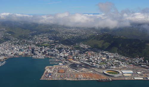 <p>Wellington City, the inner harbour, Government buildings, stadium, and western suburbs.</p>