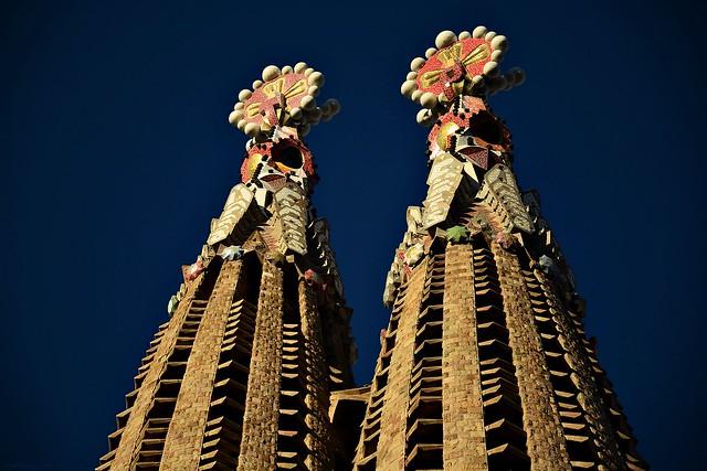 Barcelona - Two towers of the Sagrada Familia #2