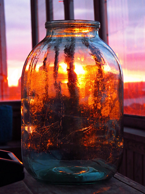 Just a jar. Siberian sunset