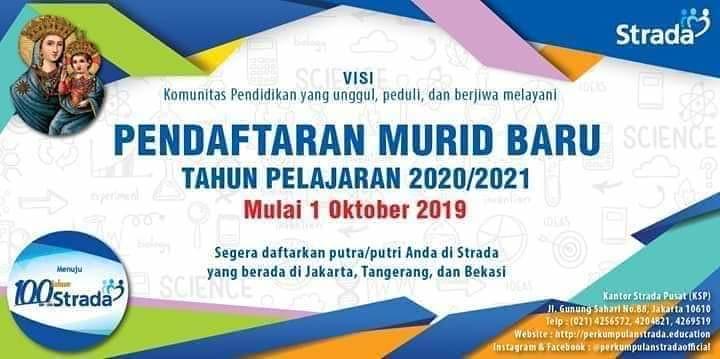 Pendaftaran Murid Baru Tahun Pelajaran 2020/2021