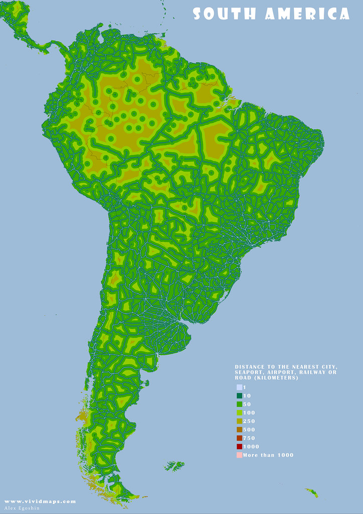 Remoteness: South America