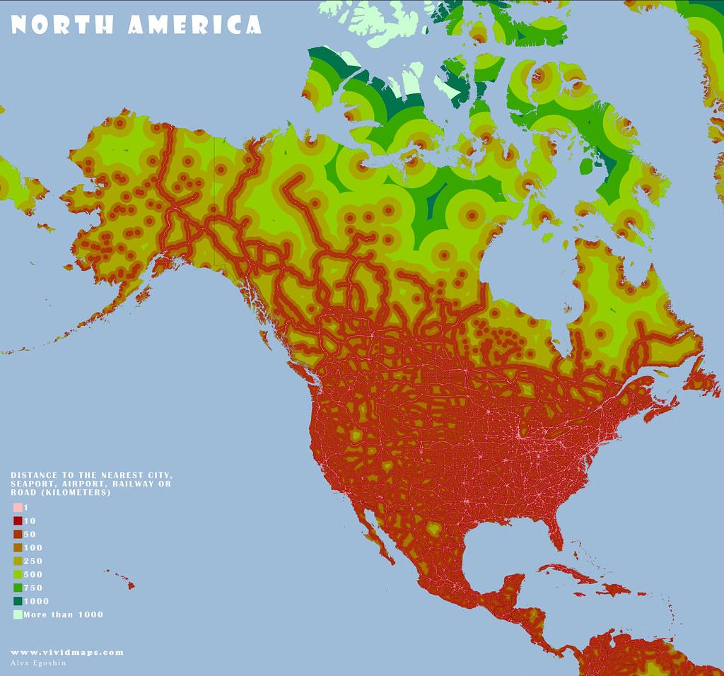 Remoteness: North America