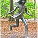 """Utikající dívka"" / ""Running Girl"" by Kurt Gebauer (1976) -- Middelheim Museum Antwerpen / Anvers"
