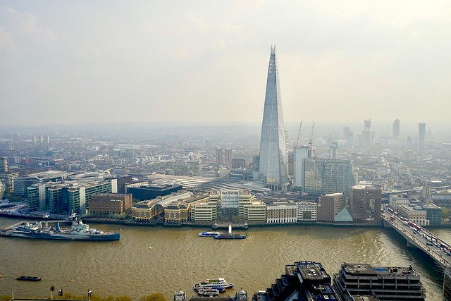London Bridge and The Shard, viewed from the Sky Garden
