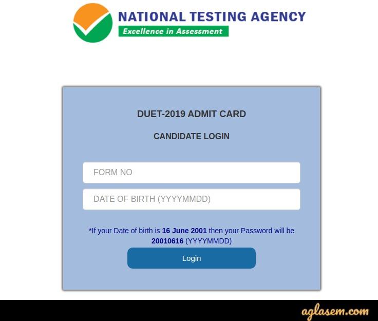 DU PG admit card 2020
