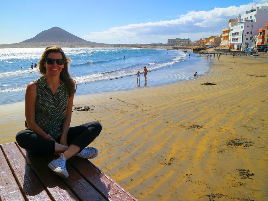 Playa Grande en El Medano Tenerife