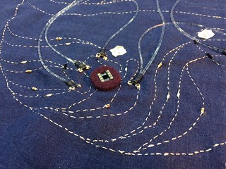SMD components on the embroidery