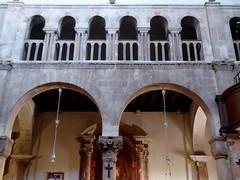 Zadar (Croacia). Catedral de Santa Anastasia. Detalle del interior