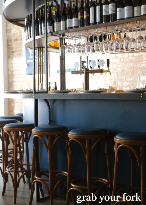 Bar seating at Cafe Paci in Newtown