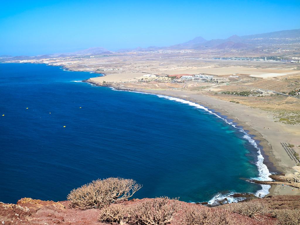 Vista de La Tejita desde Montaña Roja