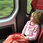 Madeleine on the way to Geneva via bus then a train to Bern today. Kate is visiting friends there.