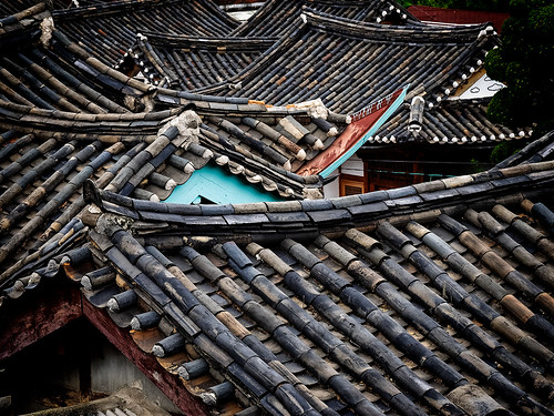 Roofs in Buckchon Hanok Village, Seoul, September 2019 EM11837
