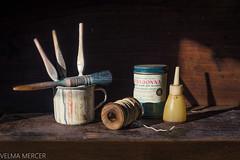 Still life paint brushes.