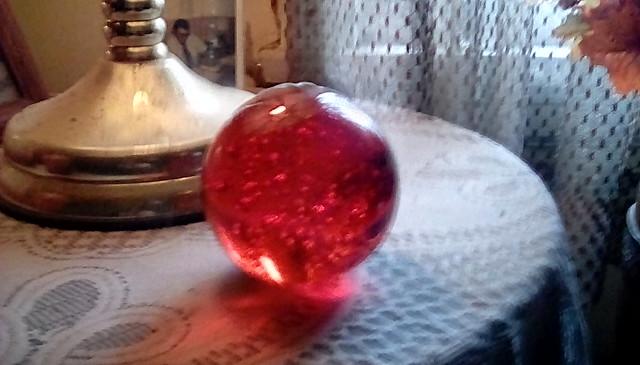 Red paperweight! Menominee Michigan