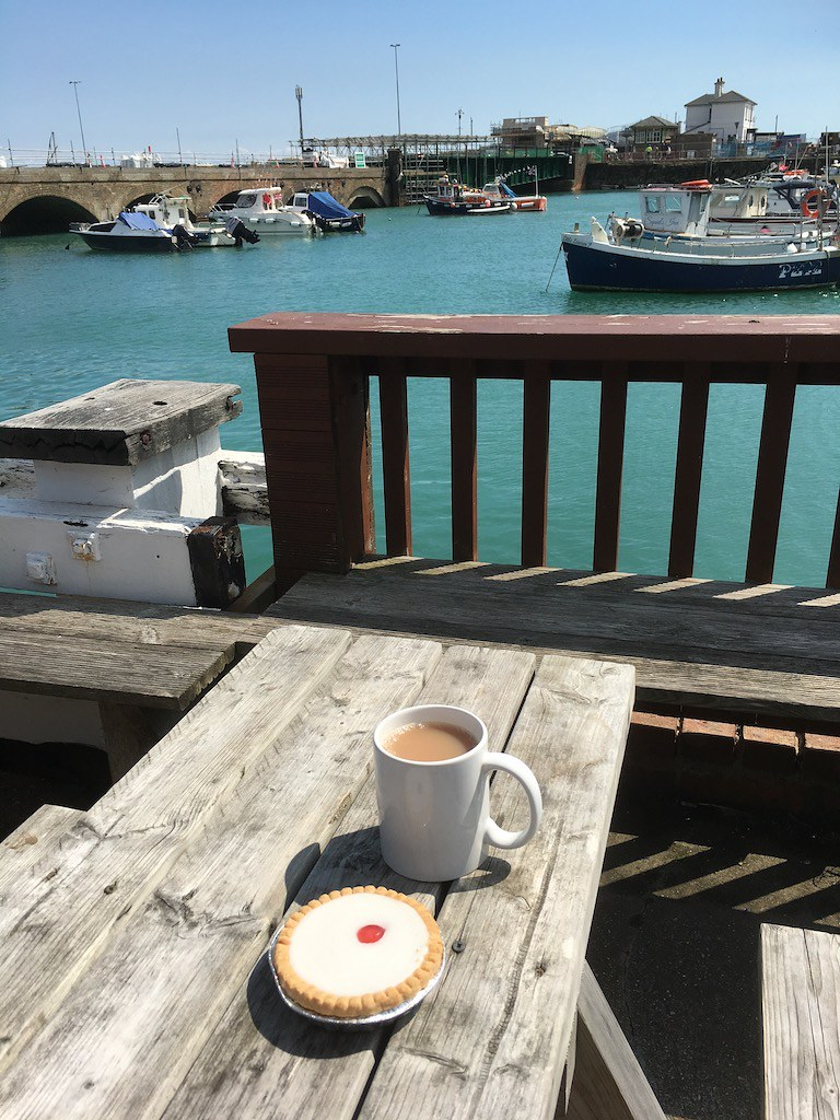 Tea by the sea, Folkestone Sandling to Folkestone walk