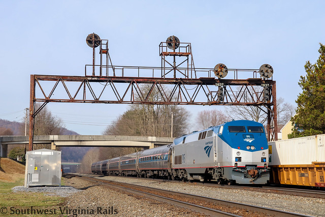 Amtrak at Summerhill, Pa.
