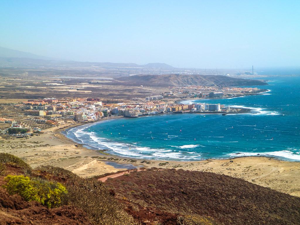 Vista de El Medano desde Montaña Roja