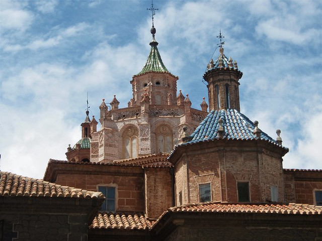 Teruel - Tejados y cimborrio Catedral de Santa María.