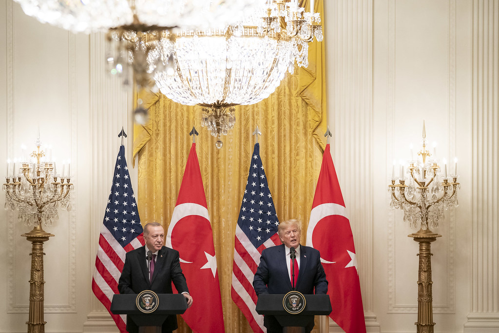 President Trump and the First Lady Visit with the President of Turkey and Mrs. Emine Erdogan