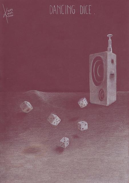 Dancing dice.