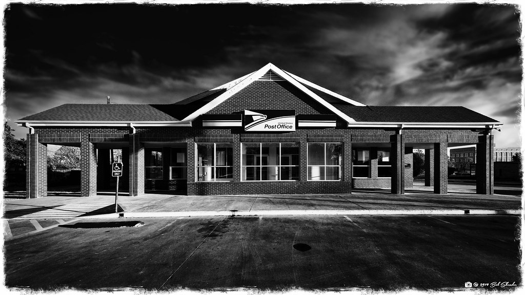 Post Office in Black and White