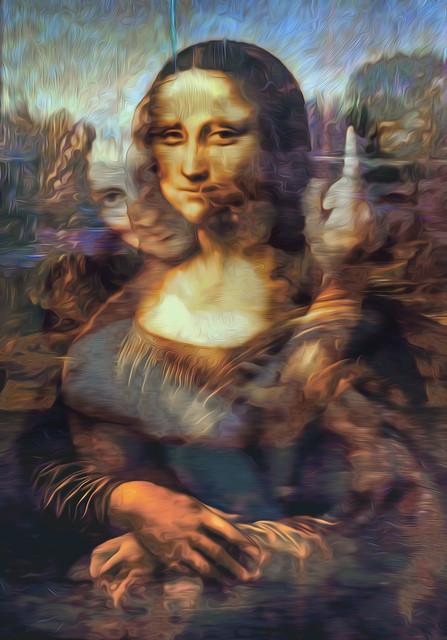 Bildschichten Leonardo da Vinci Werke 03 gegenüber der Umarmung skeptisch