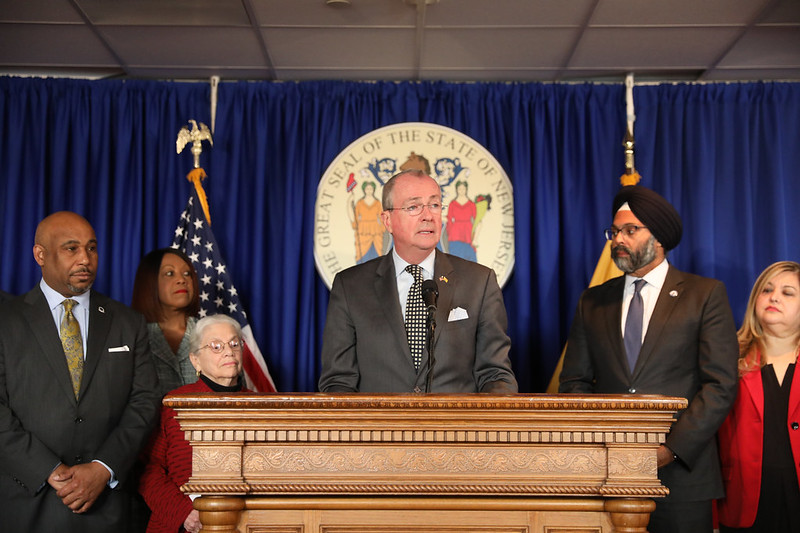 Governor Phil Murphy announces recommendations from the Criminal Sentencing and Disposition Commission in Trenton on November 14, 2019. Edwin J. Torres/GovernorÕs Office)