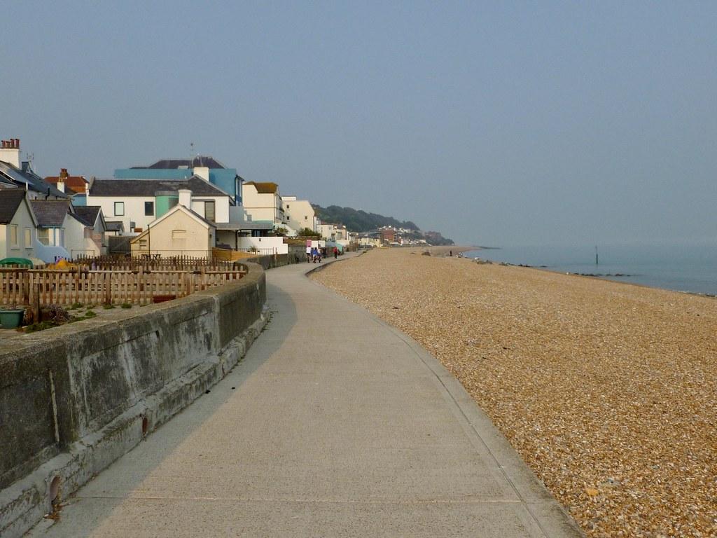Sandgate beach Sandling to Folkestone walk
