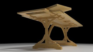 Pine Extension Table low render | by Dave_R_