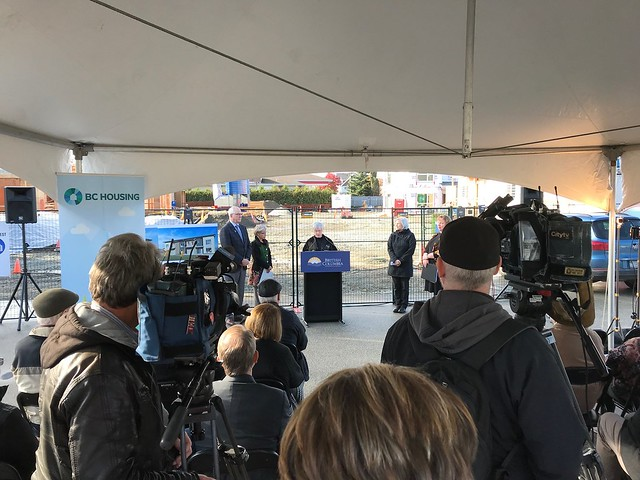 Construction celebration for affordable housing project in Langley