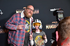 Brian Posehn & Rhodes at the Special Fan Screening of The Mandalorian at the El Capitan Theatre in Hollywood - DSC_0555