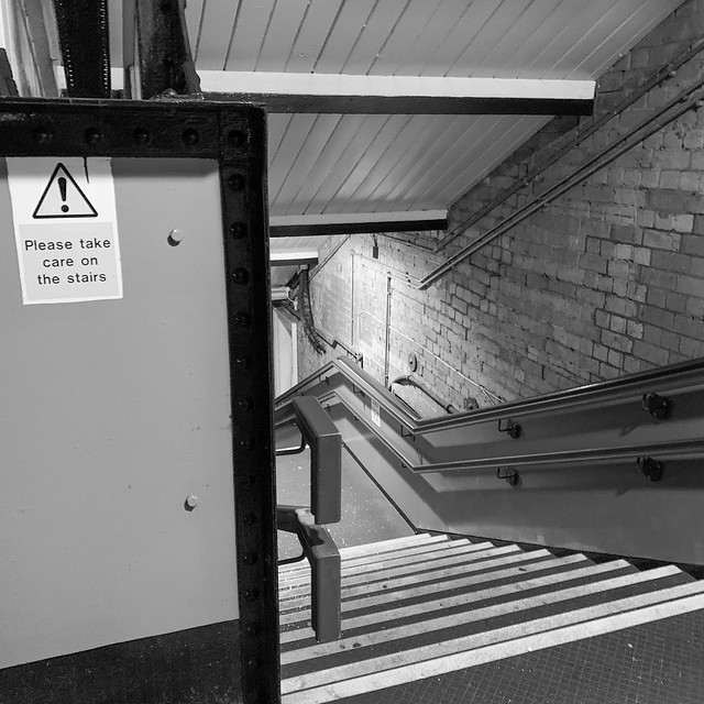 Please take care on the stairs