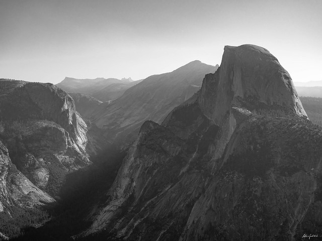 majestic Half Dome in the morning light