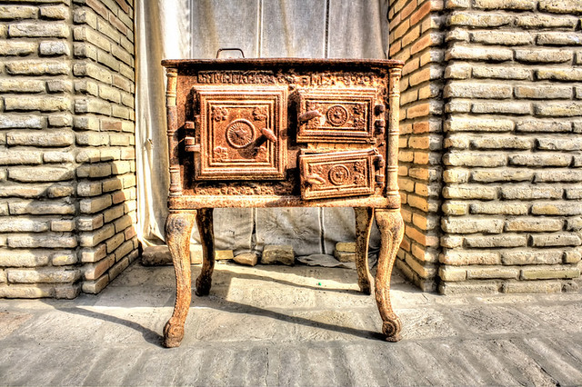 Bukhara UZ - Merchant Chodschajew house stove