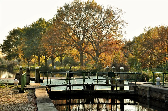 Fall at the sluice