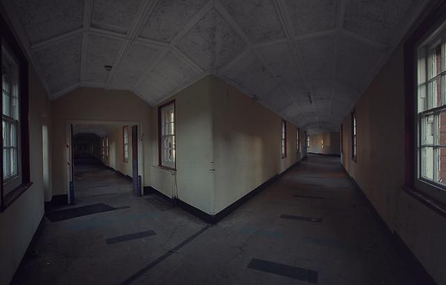 Derelict mental hospital