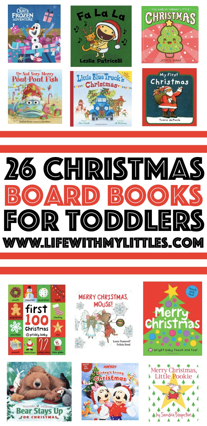 This is a great list of Christmas books for toddlers. Board books, characters they love, best-selling authors, touch-and-feel, and lift-the-flap books! Check them out here!